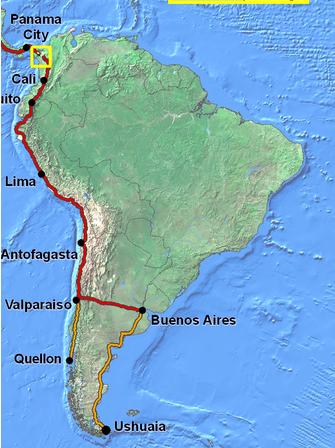 Mikes Bogota Blog The Original PanAmerican Highway - Argentina highway map