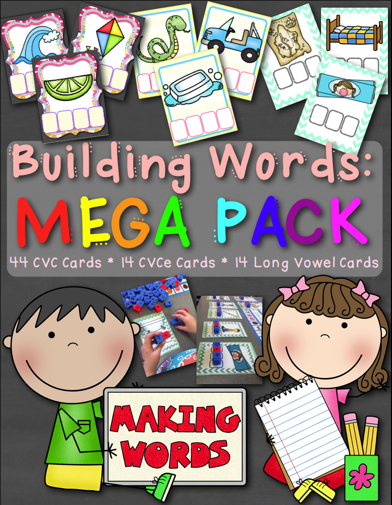 http://www.teacherspayteachers.com/Product/Building-Words-MEGA-PACK-Includes-CVC-CVCe-and-Long-Vowel-Activity-Cards-1347143