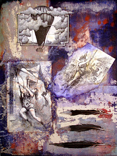 collage, painting