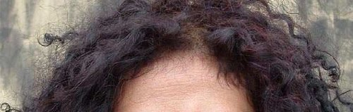 Contoh hasil henna pada rambut hitam dgn sedikit uban