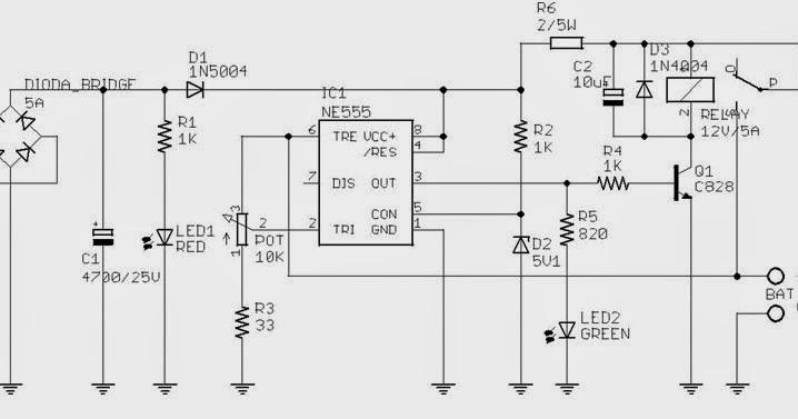 accu charger menggunakan ic ne555 dengan arus keluaran 4 5a