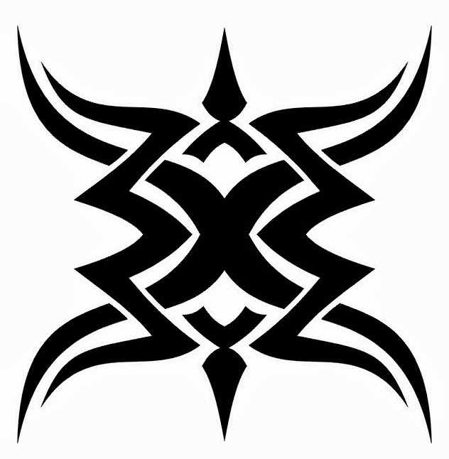Tribal design shoulder tattoo stencil 35 (click for full size)