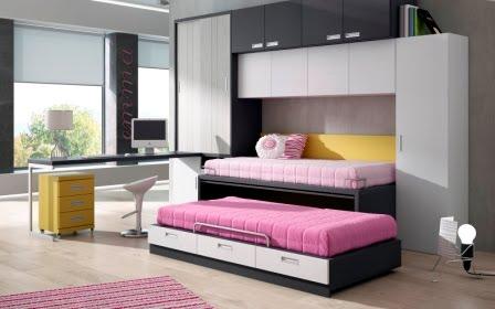 imagenes dormitorios juveniles para espacios reducidos - FOTOS HABITACIONES JUVENILES