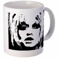 Mug with art by Bebee Pino