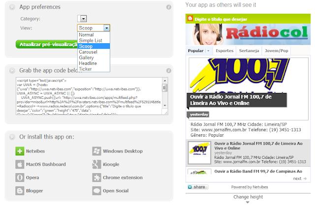 Colocando rádio online em seu site ou blog