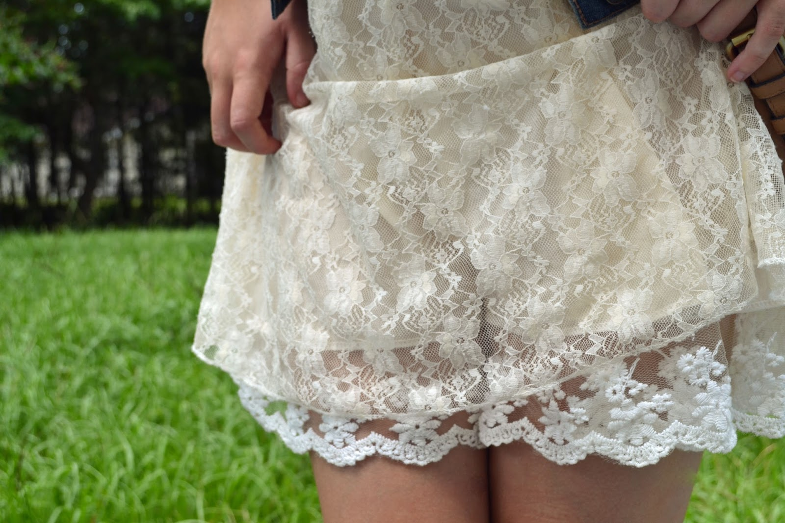 lace dress, lace, detail, detail shot, lace layers, creme, khaki, tan, legs, hands, outfit, beautiful