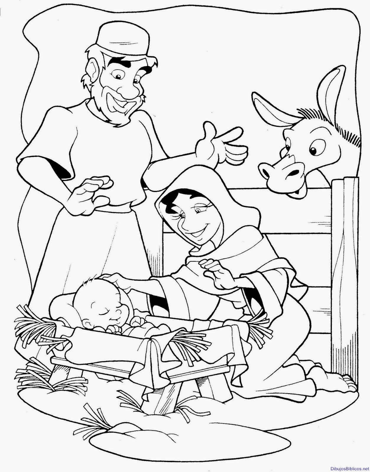 foto de Imagenes Cristianas Para Colorear: Dibujo de Nacimiento