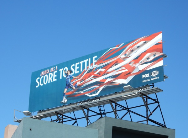 America score to settle Womens Soccer World Cup billboard