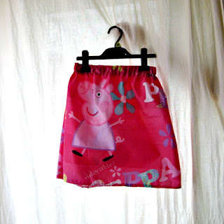 Finished trecycled girls skirt