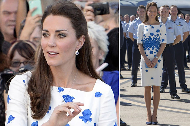 Kate opted for a LK Bennett sheath style dress