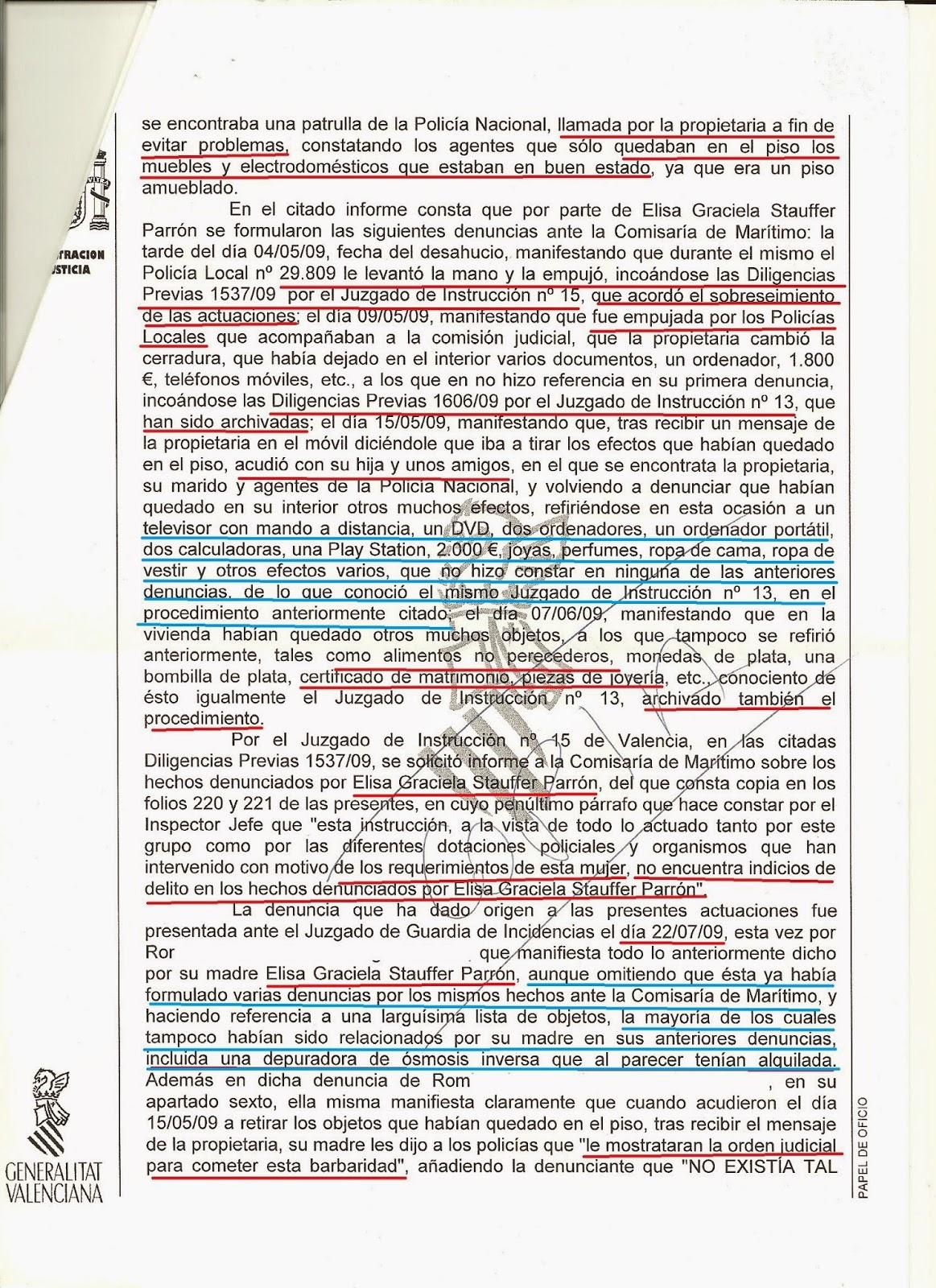 MÁS SOBRE EL CASO DE LA SRA. STAUFFER: agosto 2014