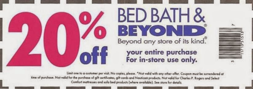 Bed Bath And Beyond Printable Coupons February 2015