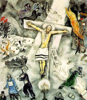 Both Saint and Cynic: Rachel Is Weeping For Her Children Chagall White Crucifixion