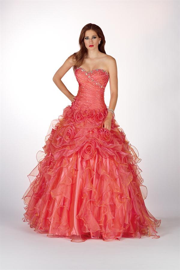 vestidos de 15 color coral