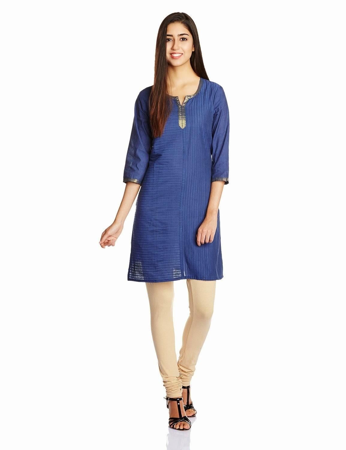 Ethnicity Women's Cotton Straight Kurta for Rs 539