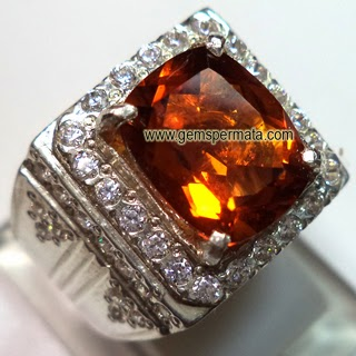 Batu Permata Orange Yellow Natural Citrine Quartz