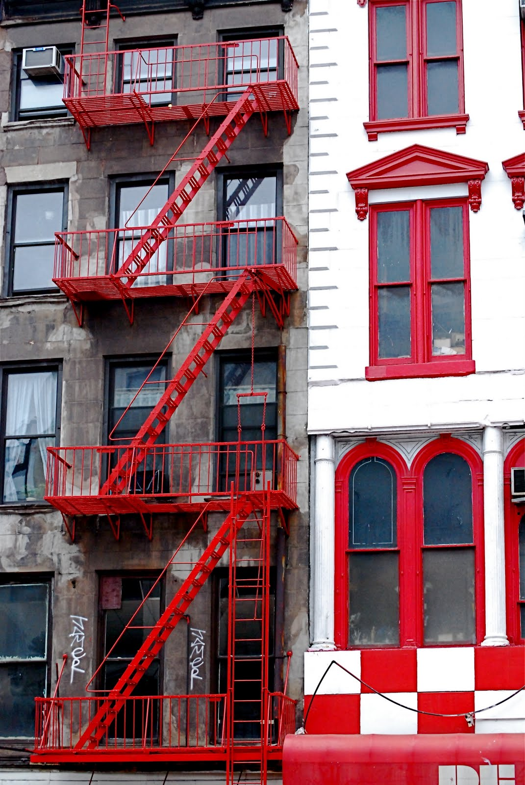 Fire Escape Stairs In SoHo And Chinatown