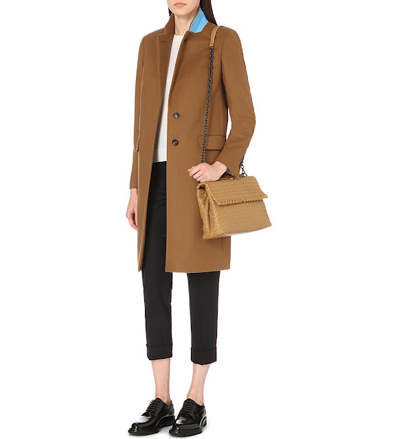 paul smith camel coat, camel coat contrast collar,