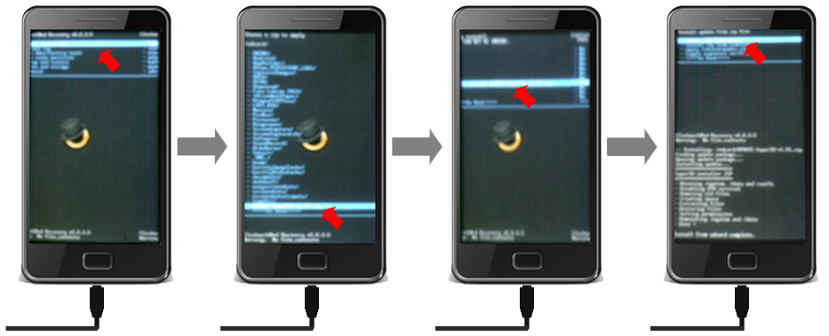 ... tombol Enter . new smartfren andromax i akan masuk menu Recovery