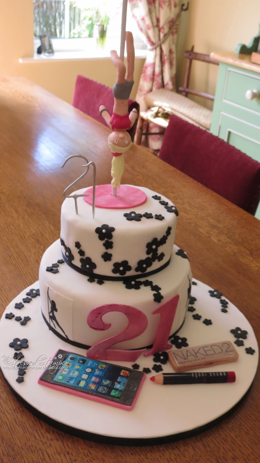 Pole Dancer Birthday Cake