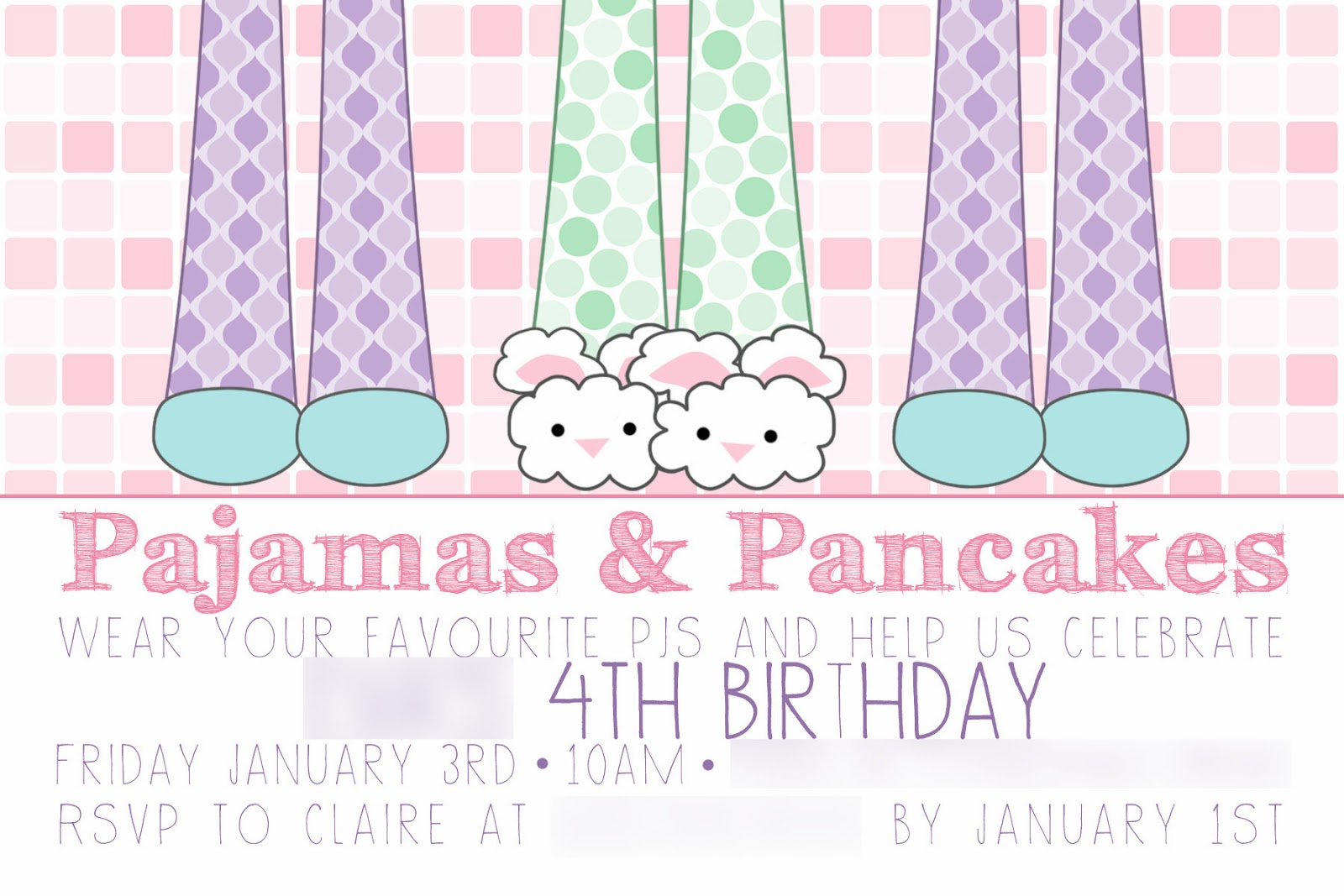 CLAIRE & CREW: Pancakes & Pajamas | A Fourth Birthday Celebration