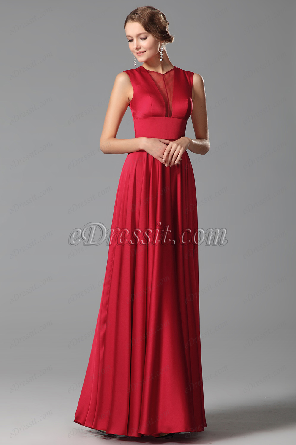 Stunning Red Evening Gowns Refresh Your Look - Simple Elegance