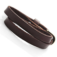 Dark Brown Leather Wrap Around Bracelet