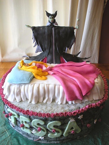Diseño de Tortas Decoradas de Malefica la Película