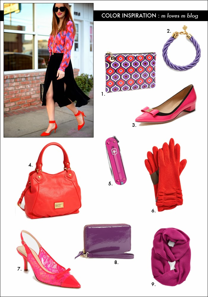 red handbag, kate spade pumps, swiss army, wool gloves, infinity scarf, how to wear pink and red, valentine days gifts, m loves m, nordstrom