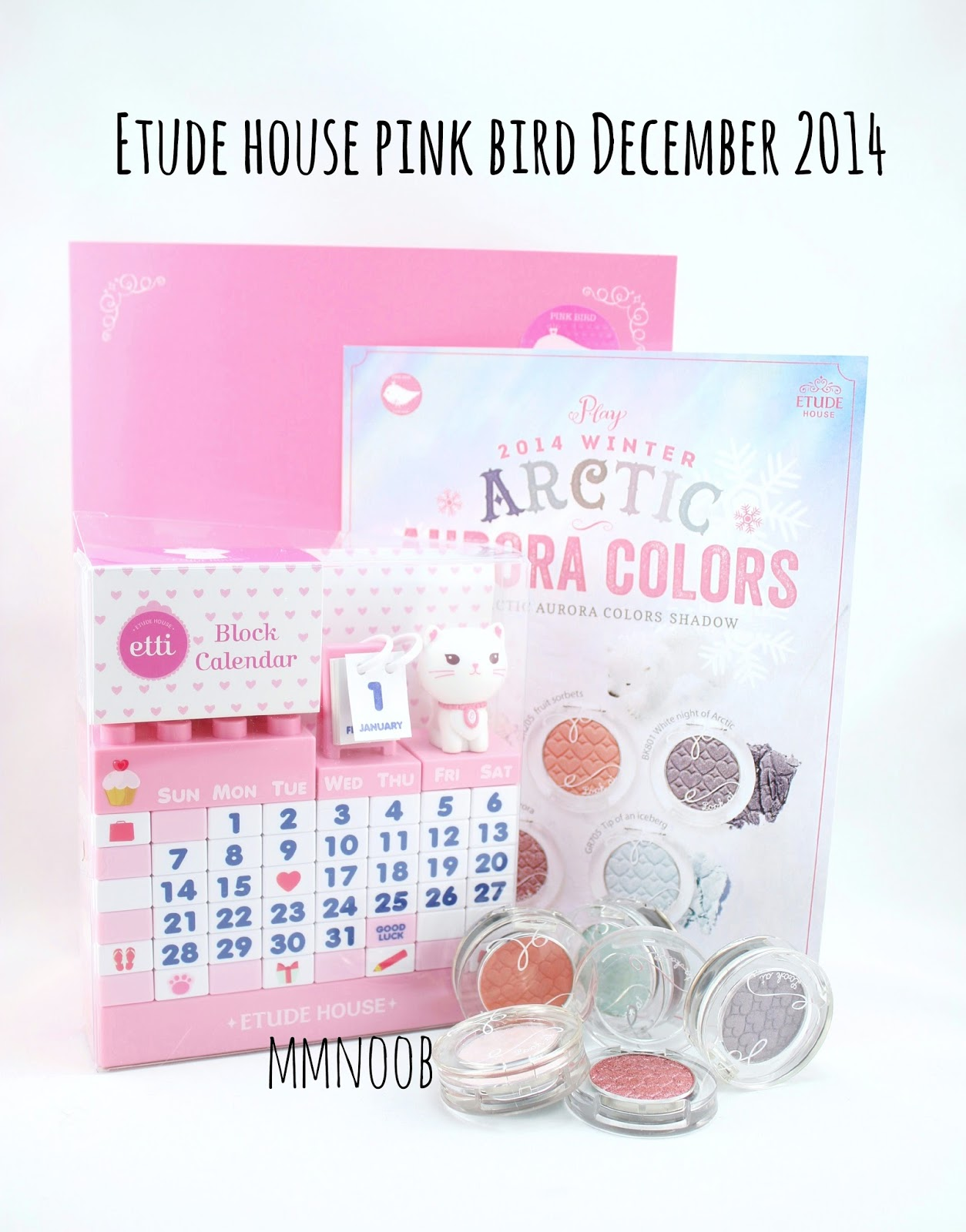 MMnoob: Etude House December 2014 Pink bird box (Feat. Arctic Aurora ...