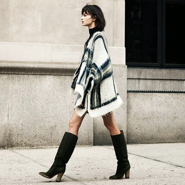 Street style-blanket poncho-trends fall 2014