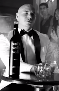 Pitbull drinking Voli in the Fireball video