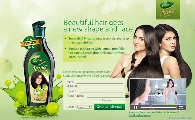 Chance To Win Dabur Amla Hair Oil Free Sample