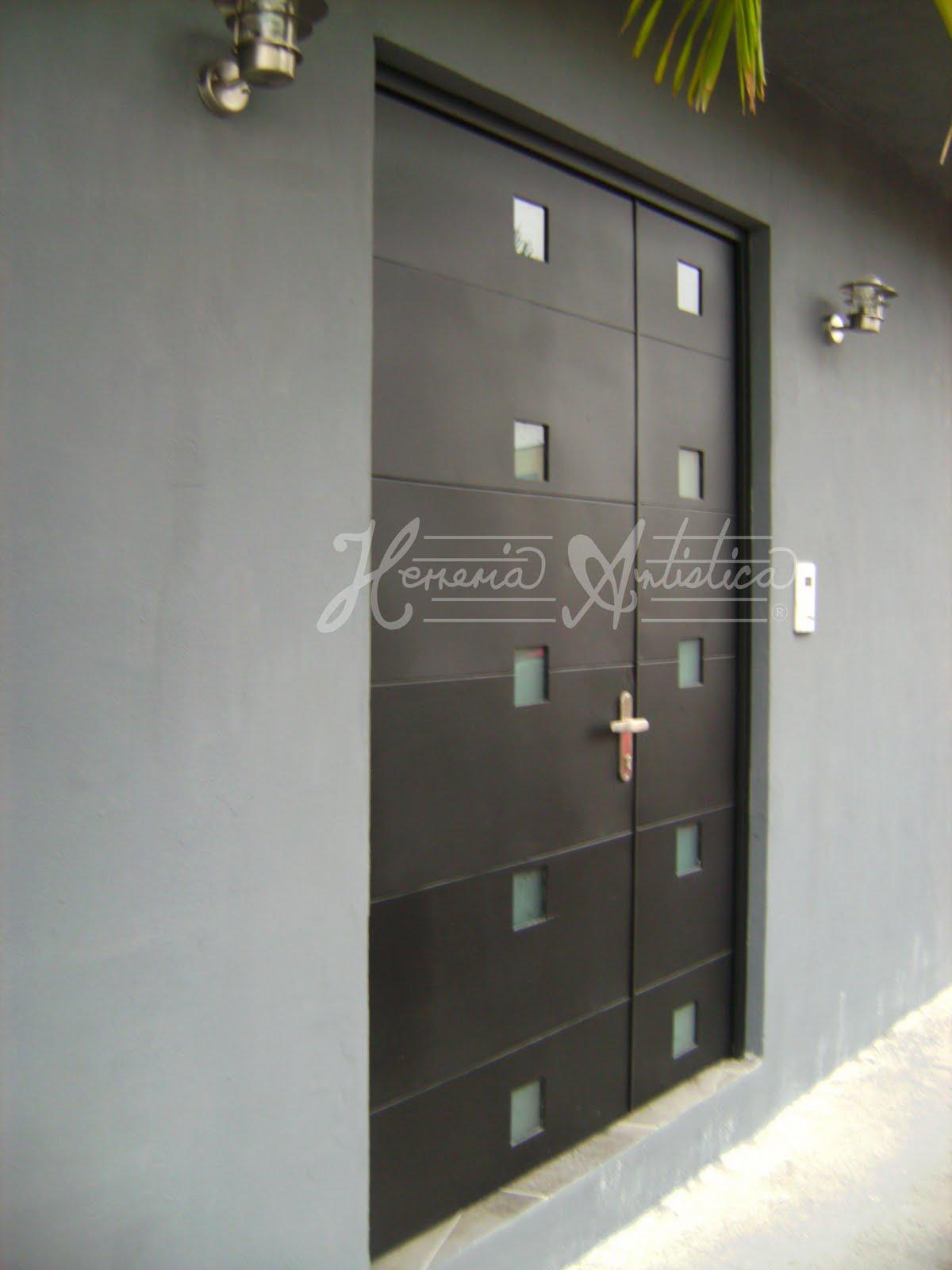 Puertas contemporaneas puertas contemporaneas herreria for Fotos de puertas de metal