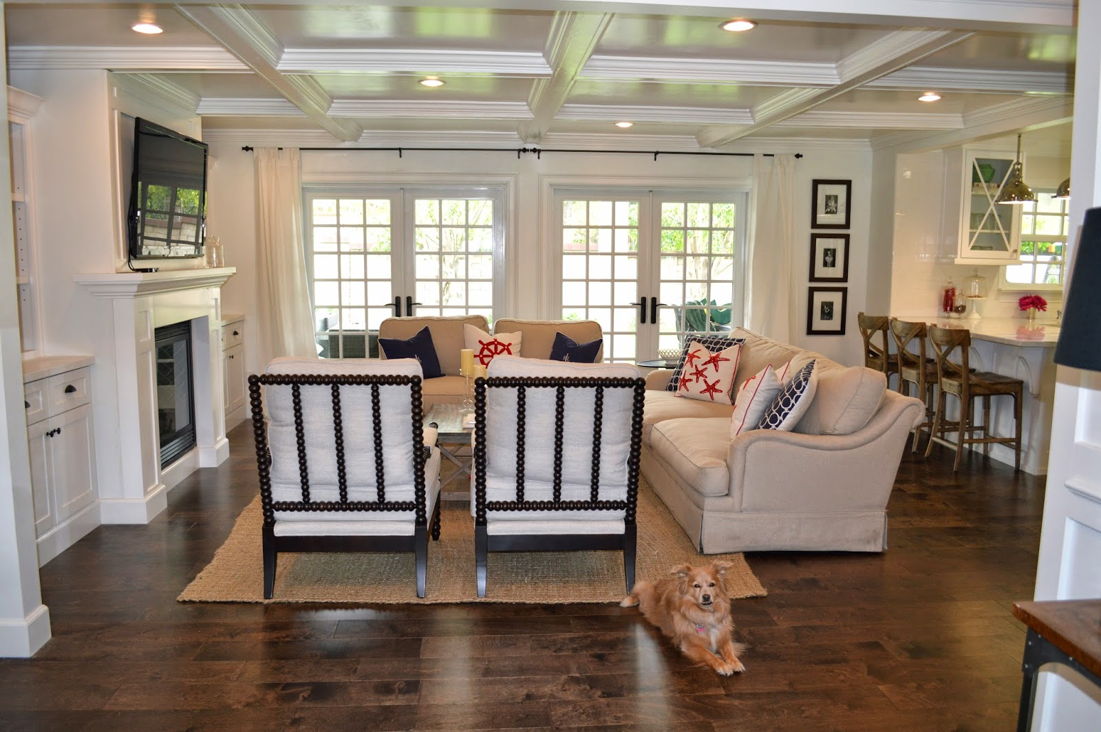 The cape cod ranch renovation great room entry for Great room addition off kitchen