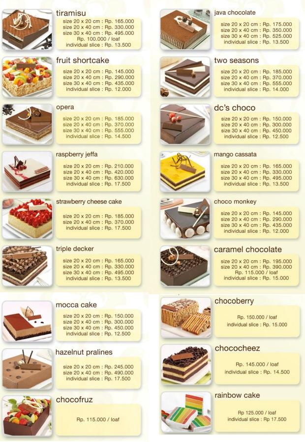 ... kue ulang tahun di dapur coklat kue ultah dapur coklat harga kue tart