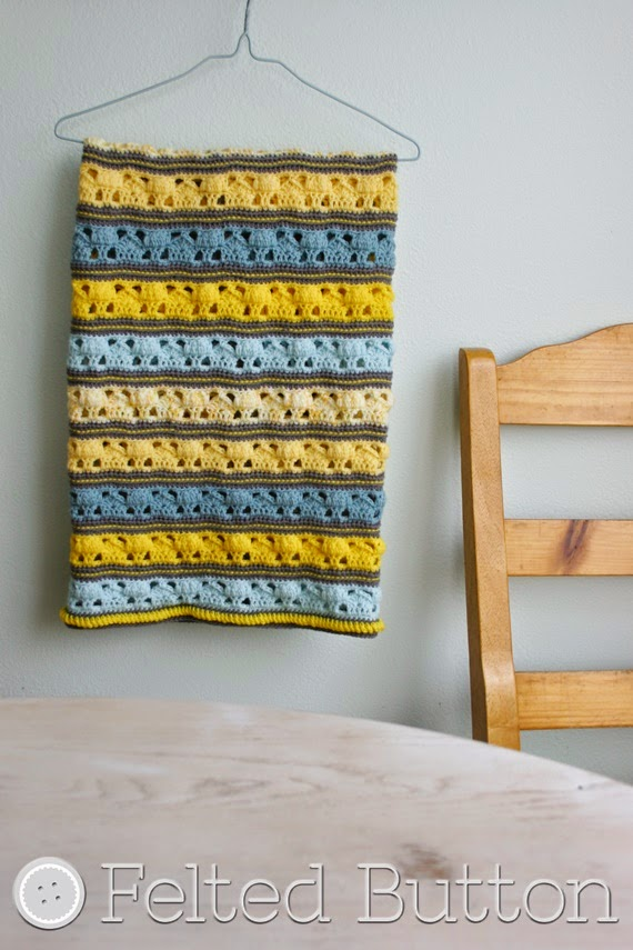Coming Home Blanket Crochet Pattern by Susan Carlson of Felted Button