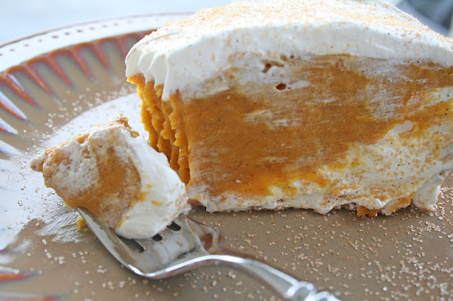 Cade's Favorite Double Layer Pumpkin Pie ohsweetbasil.com