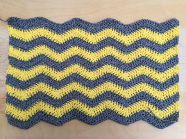 Baby chevron blanket progress