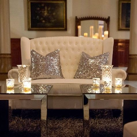 Lush fab glam blogazine pretty in sequins and metallic for Metallic living room ideas