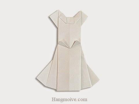 Cách gấp, xếp váy cưới bằng giấy origami - Video hướng dẫn xếp hình quần áo - How to fold a Wedding Dress