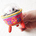 Amigurumi Easter Bunny in colored UFO