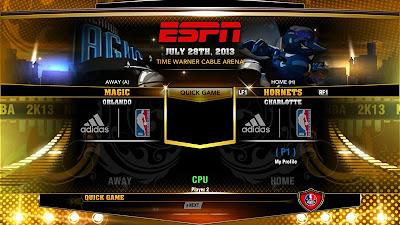 NBA 2K13 ESPN 3D Presentation Charlotte Hornets Mod