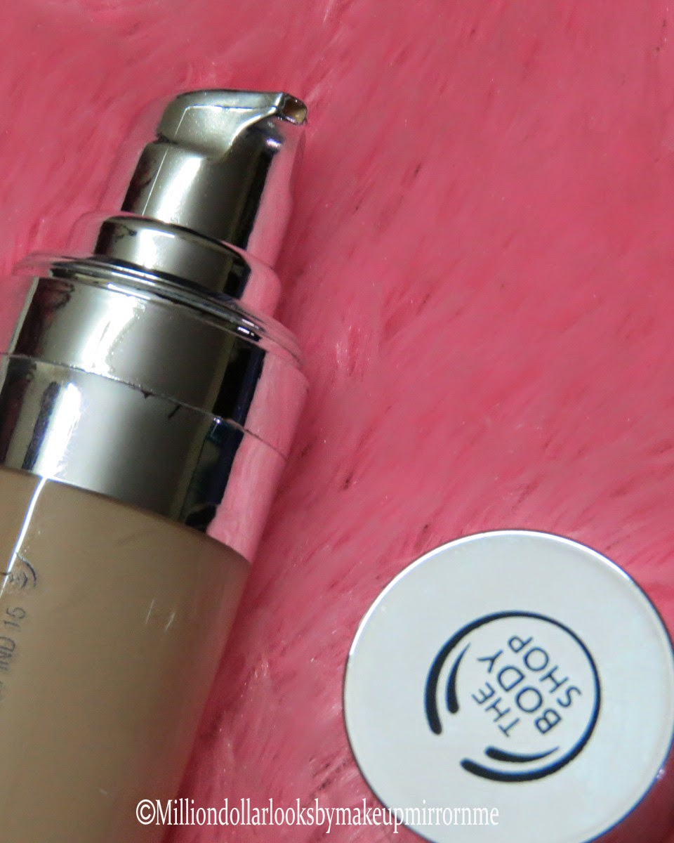 The Body Shop Moisture Foundation SPF15 shade 3 review, pictures, swatch & FOTD