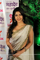 Sonarika Bhadoria TV Show Actress aka Parvati from Devon Ke Dev Maha Dev in Beautiful White Saree and Choli Spicy Pics