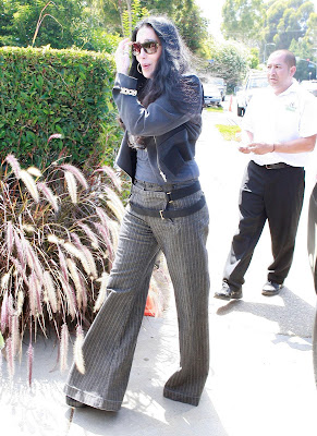 Cher arriving at the party