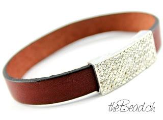 lederarmband in dunkelbraun magnetverschluss strass armbänder