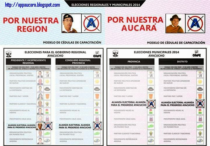Cedula de votacion marca asi para las elecciones for Marca municipales