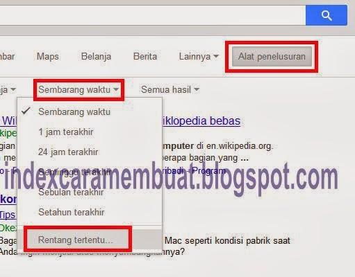 gunakan alat pencarian untuk membatasi hasil pencarian