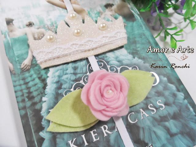 Marcador de Páginas Coroa da Princesa + Rosa